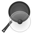 frying pan 02 vector image