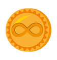 infinitecoin money golden icon vector image