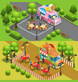 isometric street food horizontal banners vector image