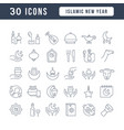 line icons islamic new year vector image