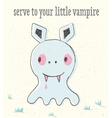 little vampire in bastyle vector image