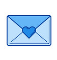 love letter line icon vector image vector image
