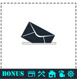 mail box icon flat vector image vector image