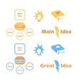 Main Idea Collection Icons vector image