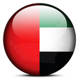 Map with Dot Pattern on flag button of United Arab vector image vector image