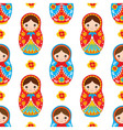 Matryoshka Seamless Pattern vector image