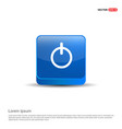 onoff switch icon - 3d blue button vector image