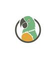 parrot bird logo vector image vector image