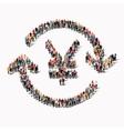 people exchange currency yuan vector image vector image