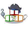 pirate bright toy block bricks on cartoon vector image vector image