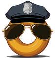 Police Donut vector image