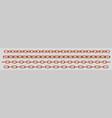realistic set copper chains vector image