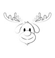 reindeer rudolph christmas related icon image vector image