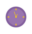 round clock time office flat icon design vector image