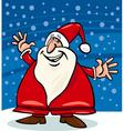 santa claus and snow cartoon vector image vector image