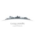 Saskatoon Saskatchewan Canada city skyline silhoue vector image vector image