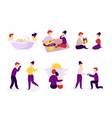 set couple in love spending time together vector image vector image