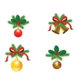 Set of Christmas tree decorations vector image vector image