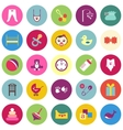 Set of colorful baby items with shadows vector image