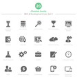 set seo and development icons set 2 vector image vector image