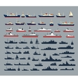 silhouettes of ships vector image