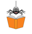 spider that reads vector image vector image