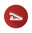 stair truck flat design long shadow glyph icon vector image