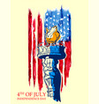 statue of liberty on fourth of july background for vector image vector image