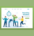 stressful situation at work reporting deadline vector image