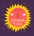 summer time lettering hand drawn typographic vector image