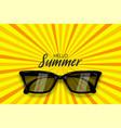 summer time sunglasses halftone pop art vector image vector image