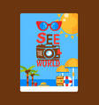 summer vacation inspirational poster vector image vector image