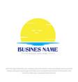sun rise logo designs vector image