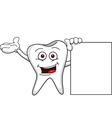 tooth with blank sign vector image vector image
