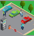 vending machine isometric vector image vector image