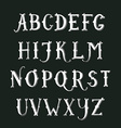 Vintage hand drawn decorative serif alphabet