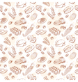 Vintage hand-drawn food set seamless pattern vector image vector image