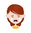 woman young girl crying flat vector image