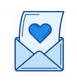 open love letter line icon vector image