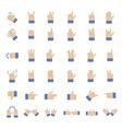 Set of hand emoticon vector image