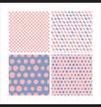 set seamless pattern image vector image