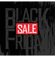 Black Friday Typography Black Friday Poster vector image