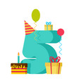 5 year happy birthday greeting card 5th vector image