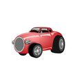 a shiny and polished cartoon red car vector image