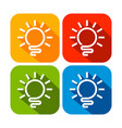 abstract light bulb rounded square icons vector image