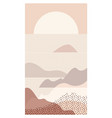 abstract sea landscape beautiful scenery vector image vector image