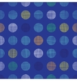 Abstract textile polka dots on blue seamless vector image