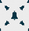Alarm bell icon sign Seamless pattern with vector image