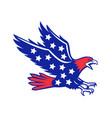 american eagle swooping stars icon vector image vector image