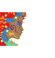 background of dark skinned girl mulatto woman in vector image